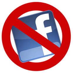 deactivate facebook, no facebook sign/symbol