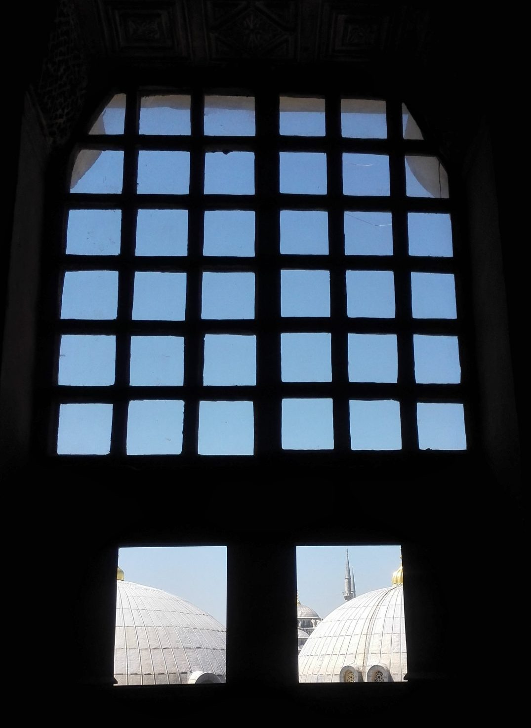 looking out from Hagia Sophia